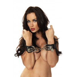 Cuffs With Metal And Padlock