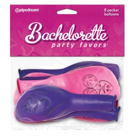 Bachelorette Party Favor Pecker Balloons 8 pcs