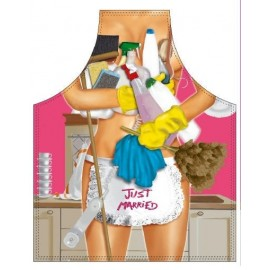 Just Married Domestic Works Woman - Apron