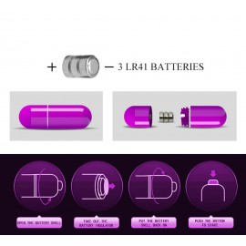 Finger sleeve vibrator, Silicone, 3 LR44 batteries