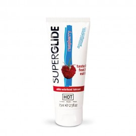 HOT Superglide edible lubricant waterbased - RASPBERRY - 75ml
